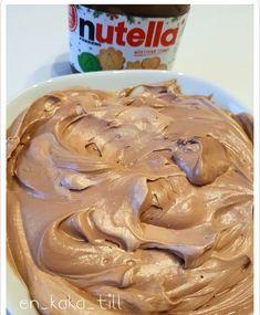 Underbart len nutellafrosting Nutellakräm till tårtor o cupcakes
