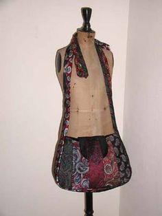 Tutorial: Paisley Necktie Schoolbag - PURSES, BAGS, WALLETS http://www.craftster.org/forum/index.php?PHPSESSID=4va9jijv3its0teadkul6r8on3=45985.msg417053#msg417053