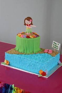 Luau Birthday Cake — Childrens Cakes
