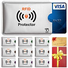 RFID U0026 NFC Blocking Schutzhülle (10 Stück) Für EC Karte, .