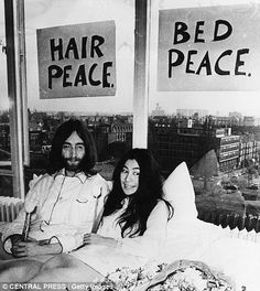 John Lennon and Yoko Ono decided to use their honeymoon to help champion world peace. March 25, 1969