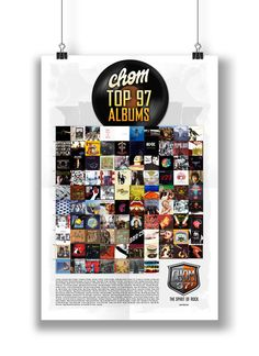 CHOM Top 97 Albums Poster