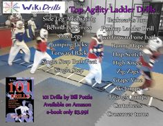 Top ladder drills. See http://www.amazon.com/Increase-Strength-Agility-Balance-ebook/dp/B00DUMI7WI/ for 100+ other drills.