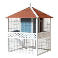 Advantek Pagoda Rabbit Hutch - Rabbit Cages & Hutches at Hayneedle