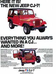 1976 #Jeep CJ-7 Advertisement
