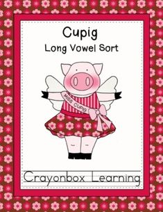 Cupig Long Vowel Sort Learning Center - Freebie - Crayonbo
