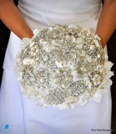 Crystal Empress Hydrangea #bridal #bouquet
