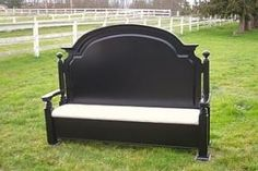 bench from a bed headboard by lacy
