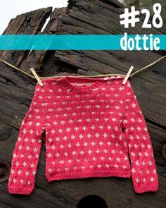 Free polka dot baby sweater pattern.