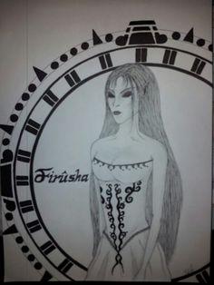 Hier habe ich mich an einer Figur aus den Legenden der Albae versuch. Hab sie  nur anhand der beschreibung gezeichnet.