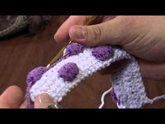 Häkeln mit Pompom Garn - crochet pompom yarn Mulher.com 06/05/2013 Marcelo Nunes - Crochê tapete bolinha Parte 2