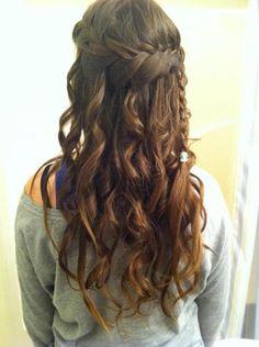 Loose waterfall braid