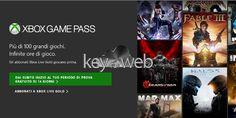 Xbox Game Pass disponibile in Italia da oggi 1 giugno: ecco come provare 100 giochi Xbox One gratis per 14 giorni  #follower #daynews - https://www.keyforweb.it/xbox-pass-disponibile-italia-oggi-1-giugno-provare-100-giochi-xbox-one-gratis-14-giorni/