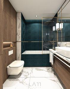 Interior Design Studio, Bathroom Interior Design, Bathroom Splashback, Best Bathroom Designs, Basement Bathroom, Bathroom Lighting, Decoration, Home Goods, Bathtub
