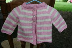 Knit Baby Girl Sweater 6 to 9 months by BlissfulFiber on Etsy, $24.00