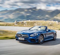 Front view of the Mercedes-Benz SL.
