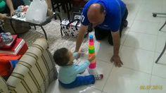 Diário do Felipinho: Vovô de 4....brincando