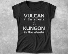 Funny Star Trek T-Shirt Vulcan in the streets Klingon in the