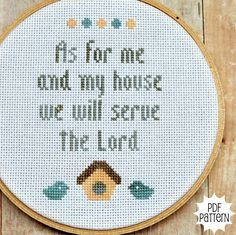 Serve the Lord Cross Stitch. I would love to make this for my mawmaw! Cross Stitch Needles, Cross Stitch Art, Cross Stitch Designs, Cross Stitching, Cross Stitch Embroidery, Embroidery Patterns, Hand Embroidery, Religious Cross Stitch Patterns, Stitch Book