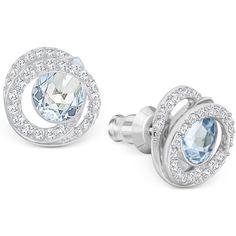 Swarovski Generation Silver-Tone Crystal Spiral Stud Earrings ($79) ❤ liked on Polyvore featuring jewelry, earrings, silver, pave jewelry, crystal earrings, crystal tear drop earrings, silvertone earrings and swarovski earrings