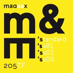 Maax. A sans serif typeface created by Damien Gautier. A font with 3 stylistic sets and alternate letters: geometric / modern / grotesk. More on: www.editions205.fr/maax_article_e.html ‪#‎typography‬ ‪#‎typo‬ ‪#‎font‬ ‪#‎fonts‬ ‪#‎maax‬ #205 ‪#‎sansserif‬