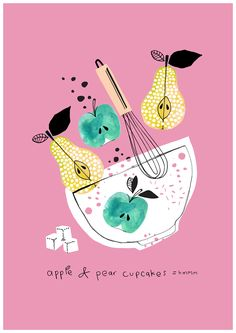 New fruit illustration illustrated recipe ideas
