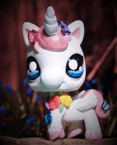 Littlest Pet Shop Spirit of Spring ooak custom figure LPS Angel Unicorn Pegasus #Hasbro