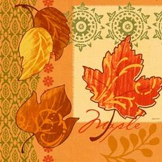 Autumn Leaves-Maple by Jennifer Brinley | Ruth Levison Design