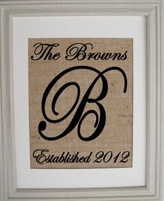 Burlap Monogram Burlap Art Burlap Wedding Save the by SunBeamSigns, $20.00