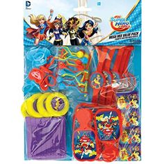 DC Super Hero Girls Wonder Woman Supergirl Batgirl Party Value Favour Pack - 48 themed items