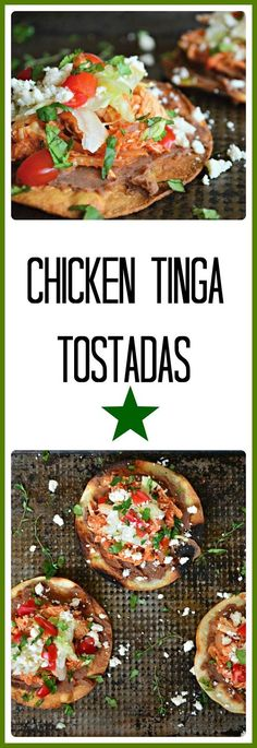Chicken Tinga Tostadas were a hit with my family. Easy to make and better to eat! These are also great in tacos or over rice. Delicious! #MexicanFood #Chicken www.thisishowicook.com