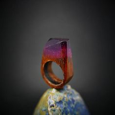 ForestDreamer / Drevený prsteň: Ametystová noc