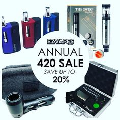 """Get 15% off sitewide with no min. thru 4/20 when you use promo code """"420"""" at checkout at EZVAPES.COM. For more #420 deals visit our website!"""