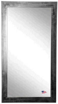 Rayne Black and Gray Smoke full length mirror is perfect to lean or hang. This unique frame design is a sure stand out in a modern space.