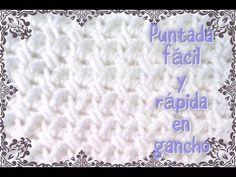 PARTE 1 DE 2: COBIJITA PARA BEBÉ A GANCHILLO ((PUNTADA CONCHITAS EN REALCE)). - YouTube