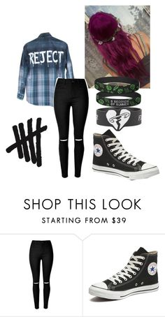 """Michael Clifford Inspired Outfit"" by dancingdrawings on Polyvore featuring Converse"