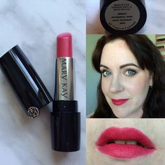 Mary Kay Gel Semi-Matte Lipstick swatch in Powerful Pink