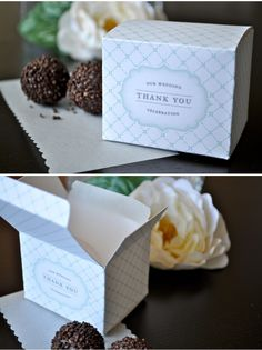 DIY favor box template found here:  http://www.stylemepretty.com/2009/06/01/diy-favor-boxes-2/