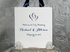 50 Wedding Welcome Bag with ribbon and your tag  by WeddingUSA