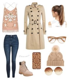 """Warm and stylish"" by angelofadorability on Polyvore featuring River Island, Topshop, Anne Sisteron, Timberland, Burberry, Felony Case, NIKE, Wildfox, Loro Piana and Linda Farrow"