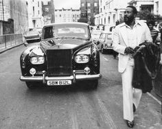 Marvin Gaye and his Rolls Royce