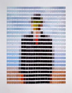 Artistic masterpieces rendered in Pantone swatches   Dangerous Minds    Nick Smith art prints & posters, available at artrepublic.com