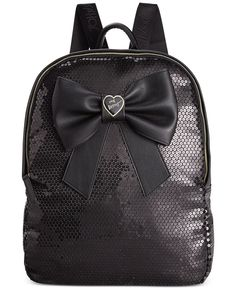 Betsey Johnson Macy's Exclusive Sequin Bow Backpack