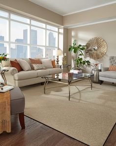 Love The Light Carpet On Dark Wood Combination Living Room Neutral Palette