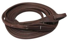 """Showman ® 8ft X 5/8"""" Oiled harness leather split reins with quick change bit loops"""