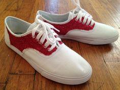 Miss Mel + Miss Heather: DIY: Glitter Shoes