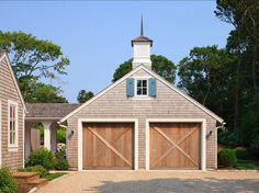 Garage. Garage Ideas. Classic Garage Design with clear white cedar ...