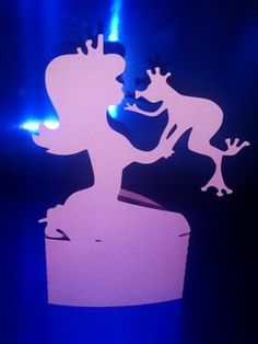 DIY Princess and frog stand up / cake topper by hilemanhouse