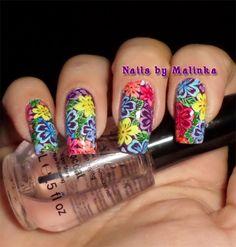 Nails by Malinka: Bloemen