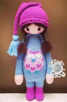 Amigurumi Emmie Bear Free Pattern, Am . Crochet Dolls Free Patterns, Amigurumi Patterns, Doll Patterns, Crochet Toys, Crochet Baby, Double Crochet, Beanie Boos, Knitted Dolls, Amigurumi Doll